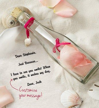 Personalized Message in a Bottle® Just Because