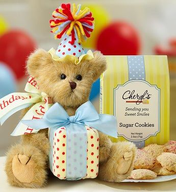 Bearington® Birthday Bear with Cheryl's Cookies