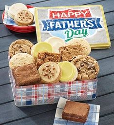 Father's Day Gift Tin Cookies and Brownies