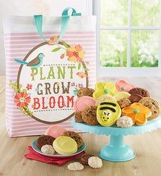 Plant Grow Bloom Canvas Tote with Treats
