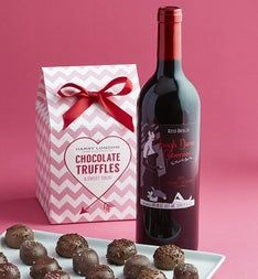 Harry London® Chocolate Truffles & Cabernet Wine