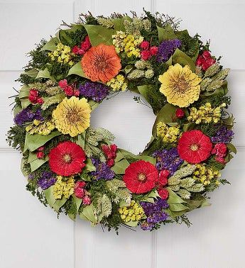 Preserved Blooming Bright Wreath- 16
