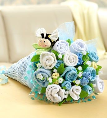 BaBEE Layette Bouquet – Blue or Pink