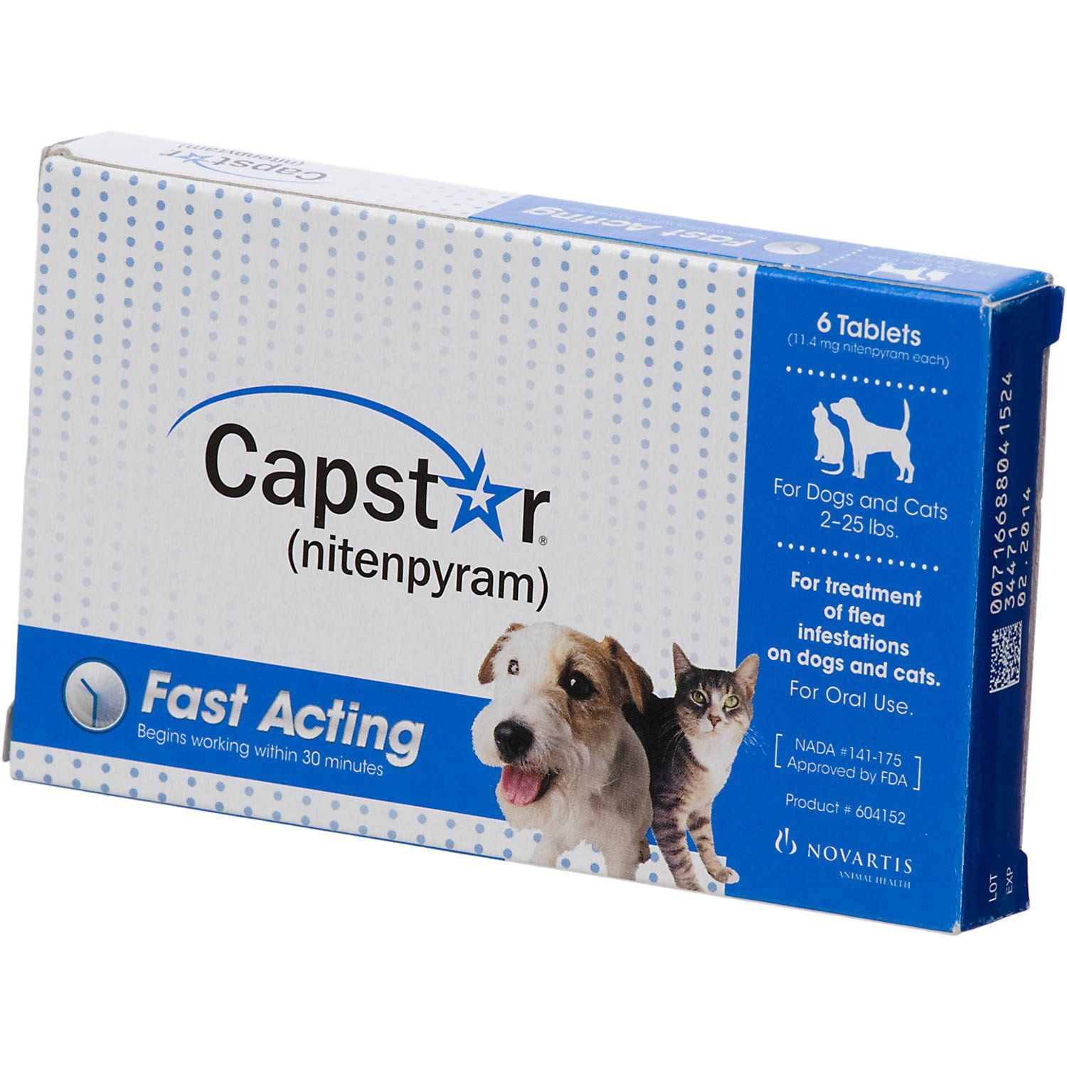 Capstar Flea Tablets for Dogs and Cats, 2-25lbs.