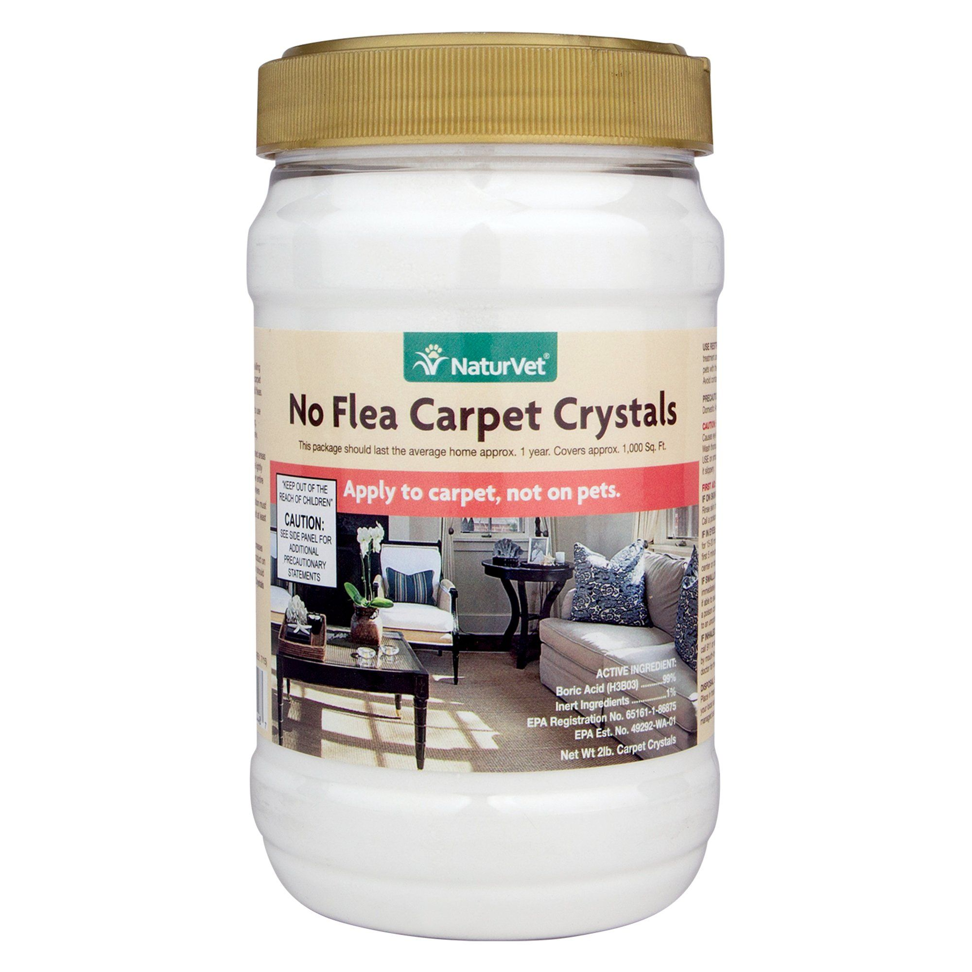 NaturVet No Flea Dog & Cat Carpet Crystals