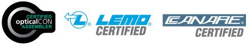 opticalCon, LEMO, CANARE certified assembler