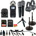 ZOOM Q2n-4K Video Podcast Kit with ZOOM H5 Handy Recorder/SHURE PGA48 Mics/Audio-Technica ATH-M20x Headphones