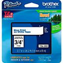 Brother TZe243 0.7 in x 26.2 ft (18 mm x 8 m) Blue on White