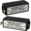 Sescom AUD-XLR-RCA 1-Channel Balanced XLR to Unbalanced RCA Audio Converter