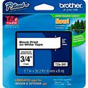 Brother TZe241 0.7 in x 26.2 ft (18 mm x 8 m) Black on White