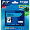 Brother TZe541 0.7 in x 26.2 ft (18 mm x 8 m) Black on Blue