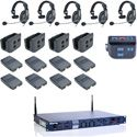 Clear-Com CZ11513 4-UP HME DX210 Intercom System with HS15 Intercom Headsets