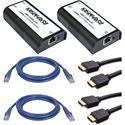 Markertek HDMI Over IP Extender Transmitter & Receiver with CAT6/HDMI Cable Kit