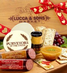 Lucca & Sons Valentine Sausage & Cheese Gift