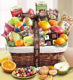 Thank You Fruit & Sweets Gift Basket