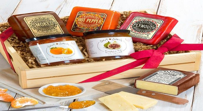 Plymouth Cheese  Just Jans Spreads Gift Crate