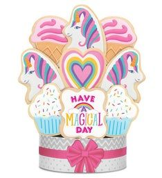 Have a Magical Day! Unicorn Cookie Bouquet