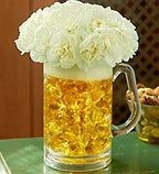 Beer Mug Floral Arrangment