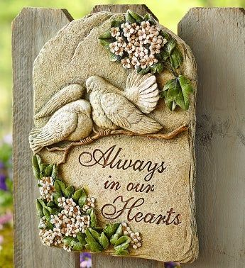 Always in Our Hearts Plaque