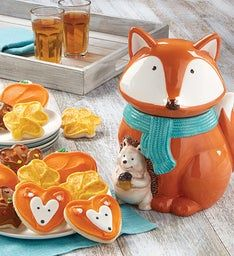 Collector's Edition Fox Cookie Jar