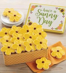 Have a Sunny Day Gift Tin Buttercream Frosted