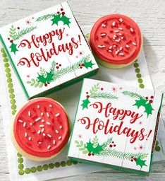 Happy Holidays Cookie Card Case