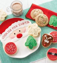 Collector39s Edition Cookies for Santa Plate