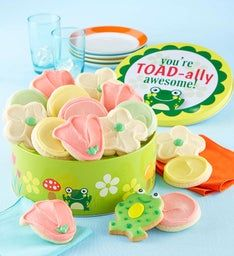 Toad-ally Awesome Gift Tin Assorted Cookies