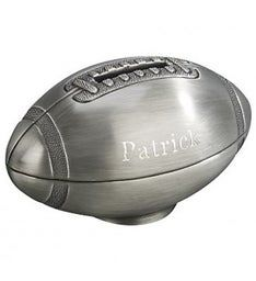 Personalized Football Shaped Bank