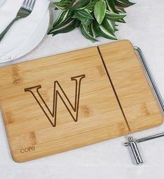 Monogrammed Bamboo Cheese Board And Slicer