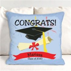 Personalized Graduation Congrats Throw Pillow