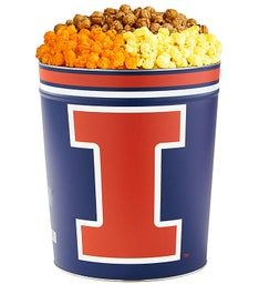 3 Gallon University of Illinois 3 Flavor Popcorn Tins
