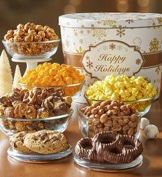 Gold Snowflake Grand Snack Assortment