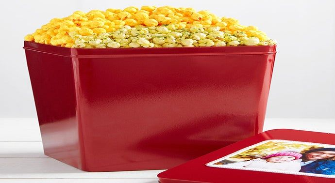 3 Gallon Butter Trio 3 Flavor Popcorn Tins