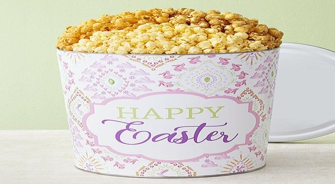 The Popcorn Factory Happy Easter 3 Flavor Tin