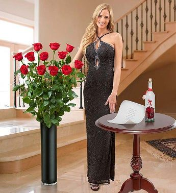Magnificent Rose® One Dozen 4ft Red