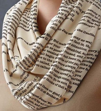 Literary Infinity Scarves