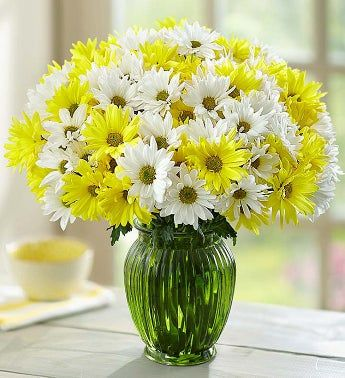 Yellow & White Daisy Bouquet, 12-24 Stems