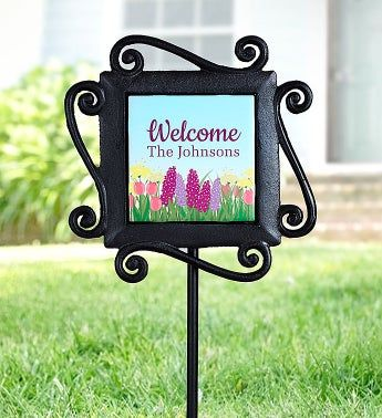 Personalized Summer Garden Stake