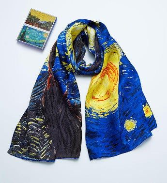 Van Gogh Silk Scarf and Notecards