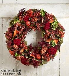 Preserved Magnolia Fall Wreath-22""