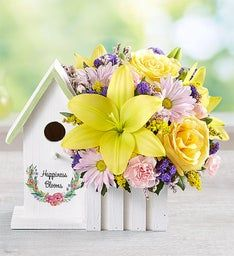 Happiness Blooms™ Birdhouse - Yellow