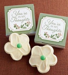 You39re in My Thoughts Cookie Card - White Flower