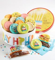 Musical Birthday Gift Tin - Frosted Assortment