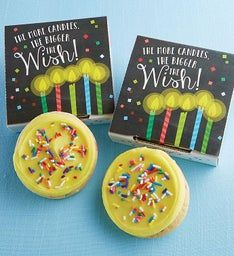 Create Your Own More Candles Bigger Wish Cookie Card