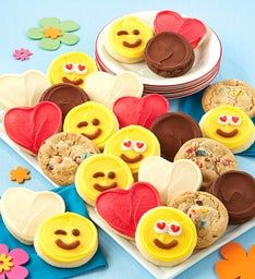 Buttercream Frosted Emoji Love Cut-out Cookie Assortment