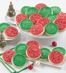 Buttercream Frosted Red and Green Cut-outs