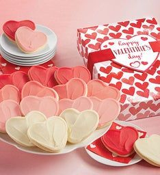 Buttercream Frosted Valentine Cut-out Cookie Gift Box