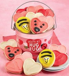 Your'e My Hug Bug Valentine Cookie Pail
