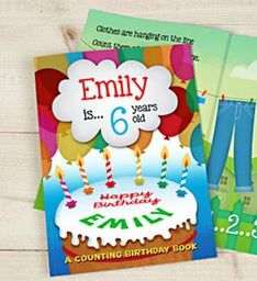 Personalized Counting Birthday Hardback Book